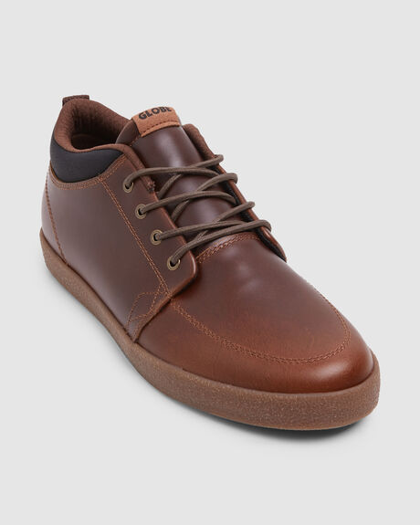 GB GSCHUKKA BROWN LEATHER CREPE