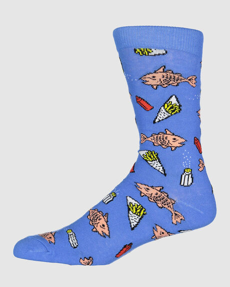 FISH AND CHIPS SOCK 86554 BLUE