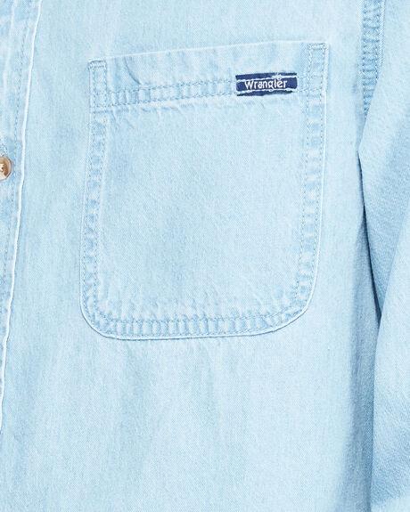 GULLS LONG SLEEVE SHIRT WAVES BLUE