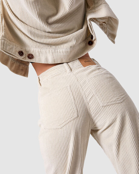 SHELBY CORDUROY HIGH WAIST WIDE LEG PANT