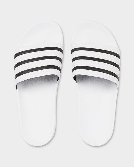 ADIDAS ADILETTE WHITE/BLACK/WHITE SLIDE