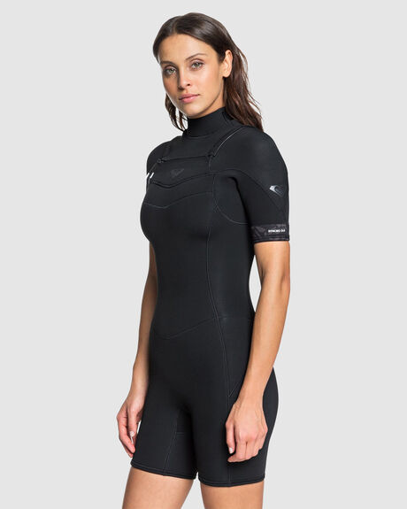 WOMENS SYNCRO 2/2MM SHORT SLEEVE CHEST ZIP SPRINGSUIT WETSUIT