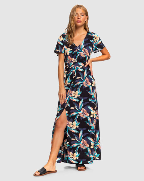 A NIGHT TO REMEMBER SHORT SLEEVE MAXI DRESS