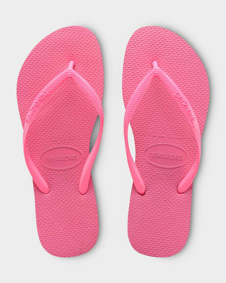 KIDS SLIM BASIC SHOCKING PINK THONG