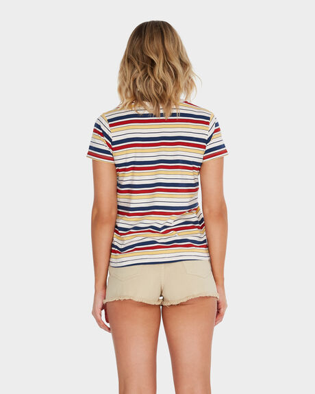 AFENDS SPORTY STRIPE STANDARD FIT TEE