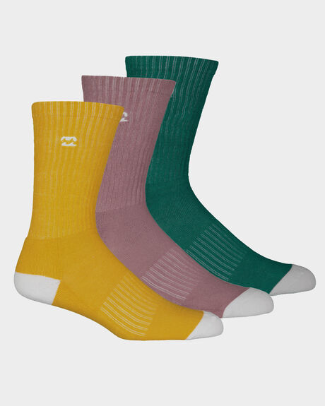 WAVE WASHED SOCKS 3 PACK