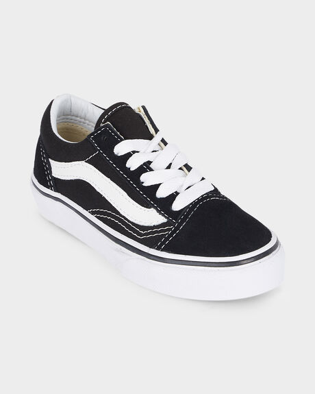 OLD SKOOL VANS BLACK/ TRUE WHITE YOUTH SHOE