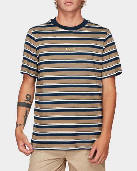 CURTIS STRIPE SHORTS SLEEVE TEE