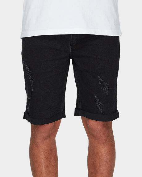 DESTROY BONES DENIM SHORT