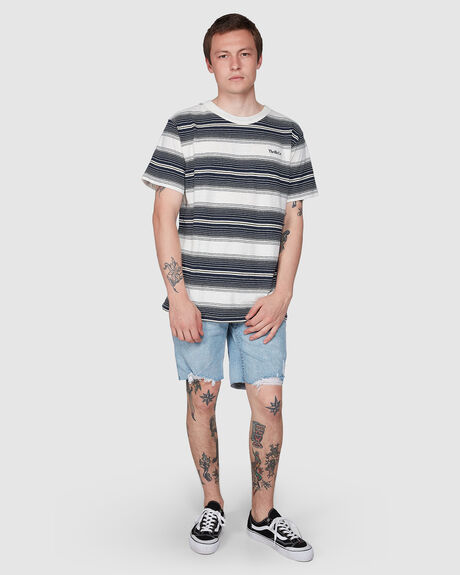 DISORDER STRIPE MERCH FIT TEE - DIRTY WHITE