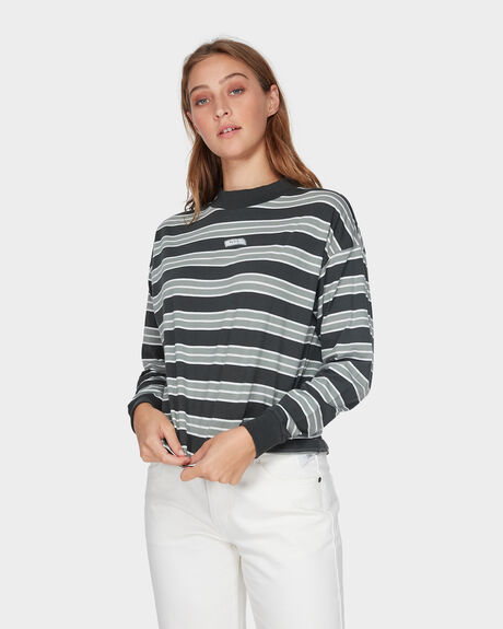 PATCH STRIPE LONG SLEEVE TEE