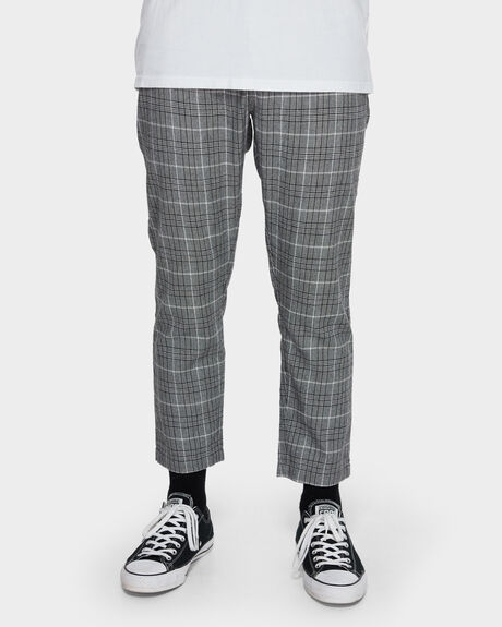 LONDON CHECK CHOPPED CHINO PANT