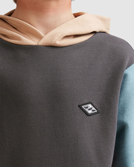 BOYS COLOUR BLOCK POP HOOD
