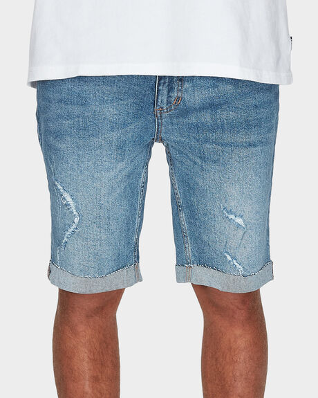 DESTORYED BONES DENIM SHORT