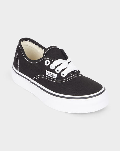AUTHENTIC YOUTH VANS BLACK/ TRUE WHITE SHOE