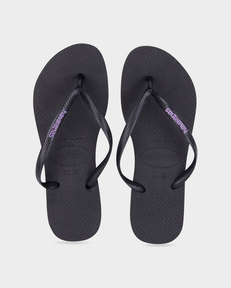 Slim Rubber Logo Black/Lilac