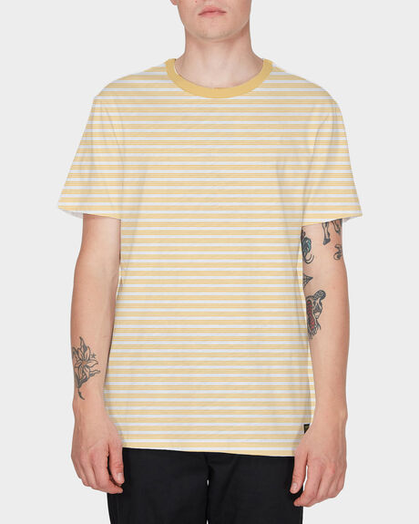 TRI STRIPE SHORT SLEEVE TEE