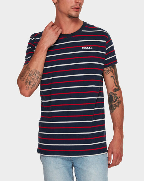 OLD MATE STRIPE SHORT SLEEVE TEE