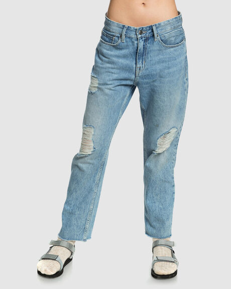 WOMENS UP SIZE BAGGY FIT DENIM JEAN