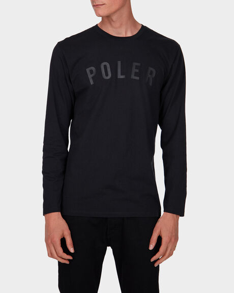 BLACK/BLACK STATE LONG SLEEVE TEE