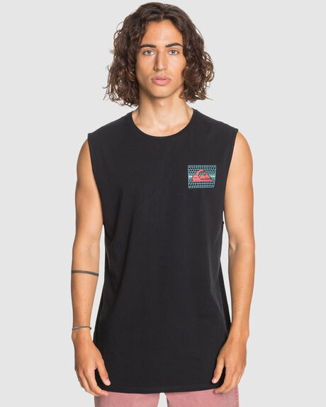 MENS SOUND WAVES MUSCLE T SHIRT