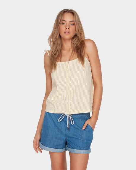 LOVE ON THE SAND DENIM BEACH SHORT