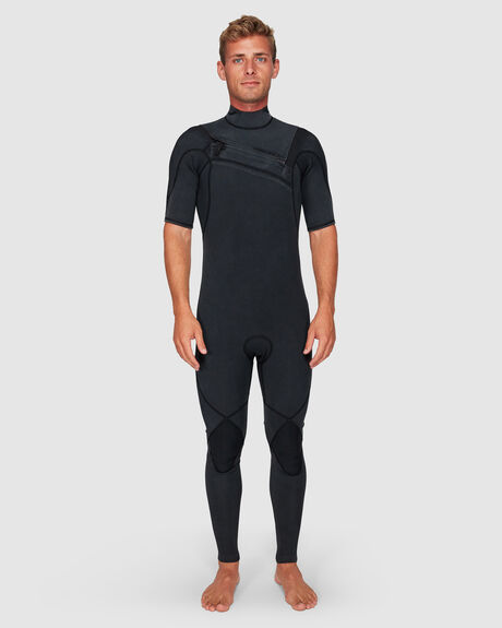 HIGHLINE LTD MONOCHROME 2/2MM SHORT SLEEVE CHEST ZIP SPRINGSUIT WETSUIT