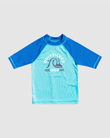 BOYS TROPICAL BUBBLE BOY SHORT SLEEVE UPF 50 RASH VEST
