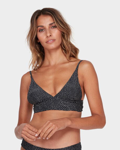 MASHA DOT ELONGATED TRI BIKINI TOP