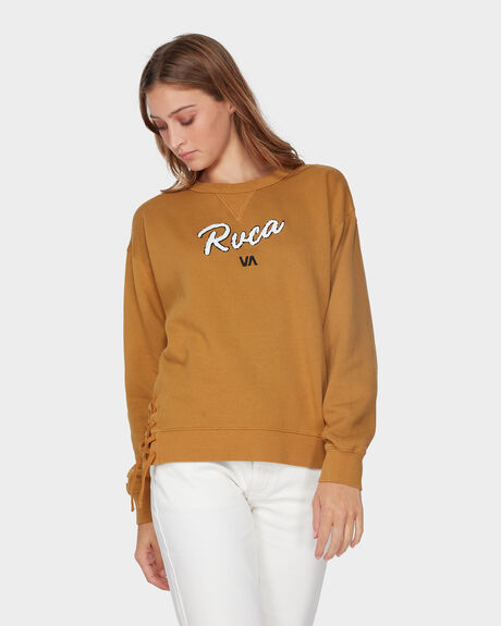 LACE UP CREW JUMPER