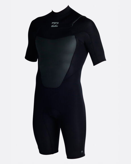 ABSOLUTE COMP 2MM SHORT SLEEVE CHEST ZIP SPRING SUIT