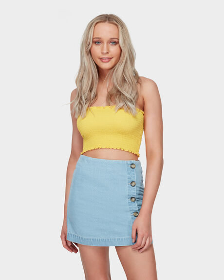 DENIM SIDEWAYS SKIRT