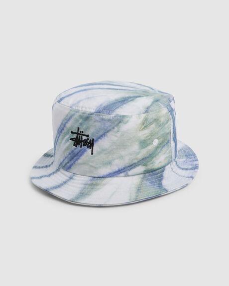 GRAFFITI TIE-DYE BUCKET HAT