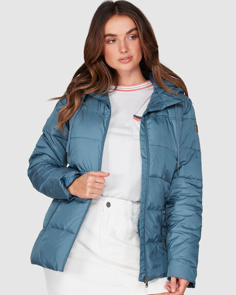 HARBOR DAYS WATER REPELLENT HOODED PUFFER JACKET
