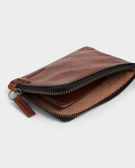 HANDCRAFTED ZIP COIN SLIM PURSE