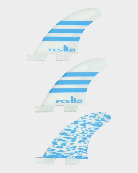 FCS II JW PC GROM BLUE/WHITE TRI RETAIL FINS