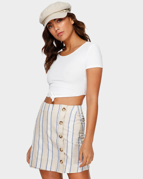 SIDEWAYS STRIPE SKIRT