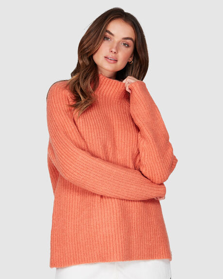 CASUAL LIFESTYLE MOCK NECK KNIT JUMPER