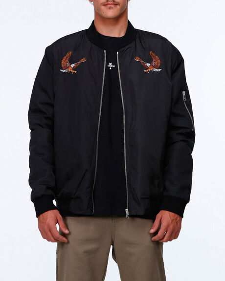 Eagle Embroided Bomber Smu