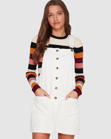 CORD LINES PINAFORE DRESS