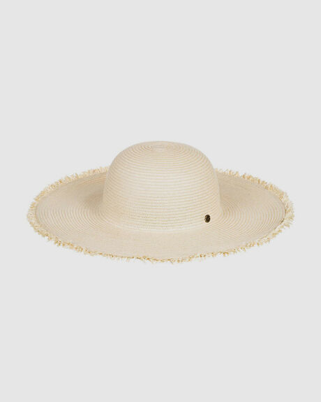 WOMENS RETRO VIBES STRAW SUN HAT