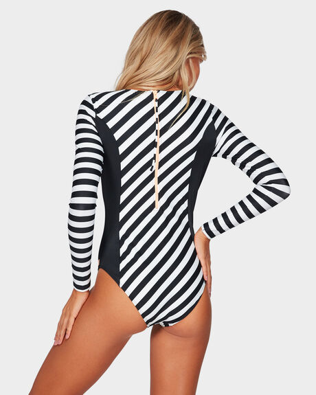 POP SURF LONG SLEEVE UPF 50 ONE-PIECE SWIMSUIT