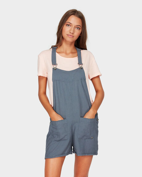 COMPASS DIRECTION LINEN PLAYSUIT