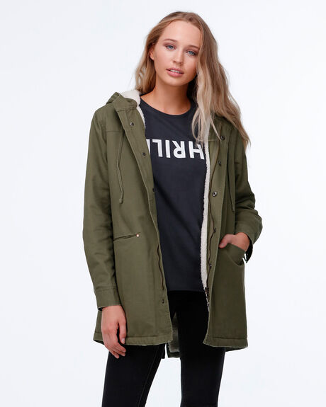 Sherpa Army Trench- Army Green