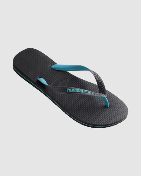 543818ff088e Grey turquoise HAVAIANAS LOGO FILETE MIX THONG
