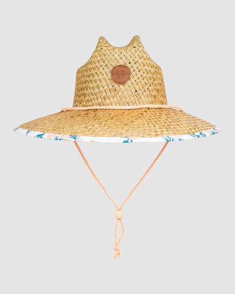 GIRLS PINA TO MY COLADA STRAW SUN HAT