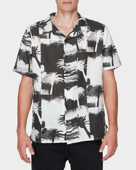 DISTORTED PALM BOWLING SHIRT