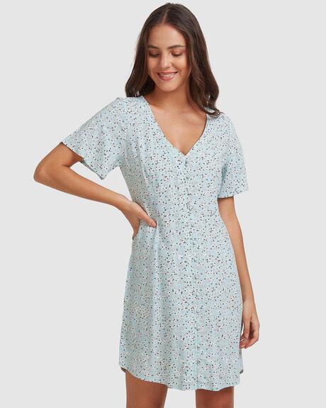 WOMENS DAMAGE LOVE SHORT SLEEVE DRESS