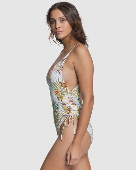 WOMENS PRINTED BEACH CLASSICS ONE PIECE SWIMSUIT