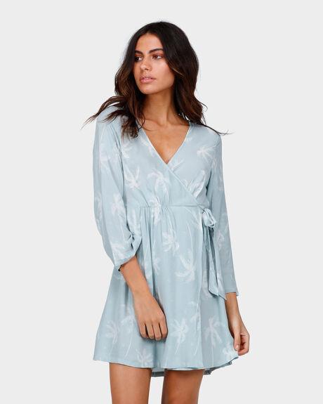 SWAY PALM WRAP DRESS